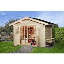 Weka Gartenhaus Premium45, Gr. 2, DT, 300 x 250