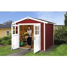 Weka Gartenhaus 224 Gr.2, schwedenrot, 21 mm, DT