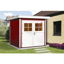 Weka Gartenhaus 227 Gr.1, schwedenrot, 21 mm