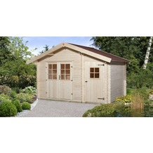 Weka Gartenhaus 253 Gr.2, 28 mm, DT, Nebenraum ET, V50, mit 2. Raum