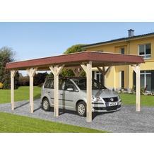 Weka Leimholz-Flachdach Einzelcarport 615 Gr.1