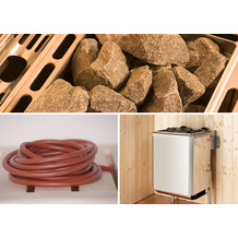 Weka Saunaofenset 10 - 5,4 kW Kompakt mit Ofenanschlußkabel