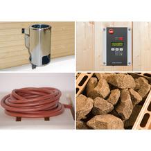 Weka Saunaofenset 1 - 3,6 kW Saunaofen 230 V mit Ofenanschlußkabel