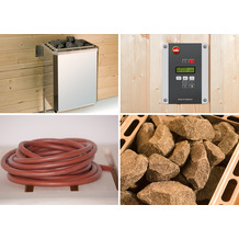 Weka Saunaofenset 2 - 4,5 kW Saunaofen 230 V (20A) mit Ofenanschlußkabel