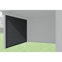 Weka Seitenwand 21 mm, für Haustyp 126 und 172 anthrazit, Tiefe 295 cm
