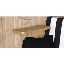 Weka seitliches Ablageset, natur, aus Holz für Laube Bozen und Merano