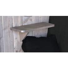 Weka seitliches Ablageset, silber geb. aus Holz für Laube Merano