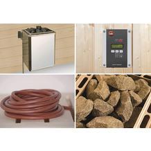 Weka Technikpaket für WEKA Saunahaus Serie 533, 9,0 KW BioAktiv Ofen mit Anschlußkabel und Steuergerät