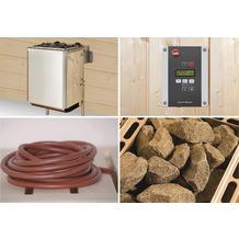 Weka Technikpaket für WEKA Saunahaus Serie 533, 9,0 KW Ofen mit Anschlusskabel und Steuergerät Sentiotec K 1