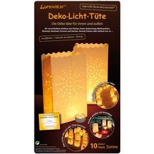 """Wiedemann Deko-Licht-Tüte """"Sonne klein"""", 10 Stück, Höhe 160 mm, ø 110 mm, Weiß"""