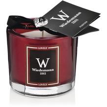 """Wiedemann Black Edition Parfum Duftkerze im Glas, Swarovski Geschenkedition """"Lovely"""" Altrot, Höhe 80 mm"""