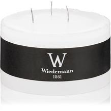 Wiedemann Marble durchgefärbte 3-Docht-Kerze Weiß, Höhe 80 mm, ø 148 mm, 4 Stück