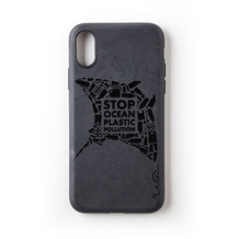 Wilma Stop Plastic Matt Manta for iPhone XR black