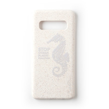 Wilma Stop Plastic Matt Seahorse for Galaxy S10 White