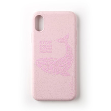 Wilma Stop Plastic Matt Whale for iPhone XR pink