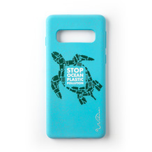 Wilma Stop Plastic Turtle for Galaxy S10 light blue