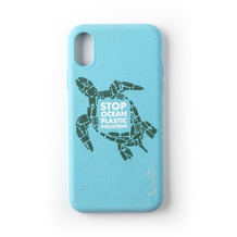 Wilma Stop Plastic Turtle for iPhone XR light blue