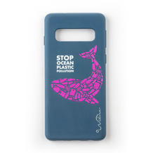 Wilma Stop Plastic Whale for Galaxy S10 dark blue