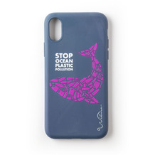Wilma Stop Plastic Whale for iPhone XR dark blue