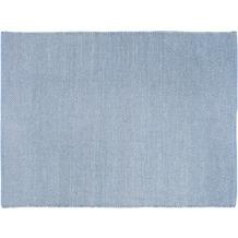 Luxor Living Handwebteppich Liv, hellblau 70 cm x 140 cm