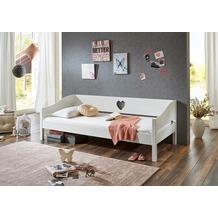 relita Einzelbett ELSA, MDF/Buche massiv, weiß, 90 x 200 cm