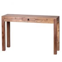 Wohnling Akazie Konsolentisch Massiv 120 cm mit 1 Schublade -  Massivholz