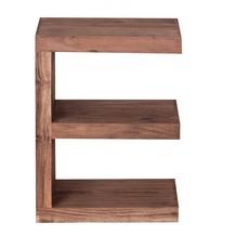"""Wohnling Akazie Massivholz Beistelltisch """"""""E"""""""" Cube 44x 30 x 60 cm mit Ablage"""