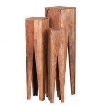 Wohnling Akazie Massivholz Beistelltische 3er Set Neu