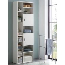 Wohnling Badschrank WL5.878 Weiß 60 x 190 x 28 cm Holz Badezimmerschrank Hoch