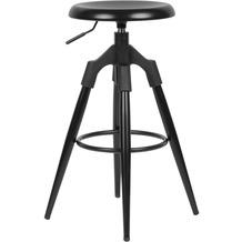 Wohnling Barhocker Schwarz Metall 72-80 cm, Design Barstuhl 100 kg Maximalbelastbarkeit, Tresenhocker Industrial, Tresenstuhl ohne Lehne schwarz