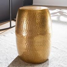 Wohnling Beistelltisch PEDRO 30x49,5x30cm Aluminium Gold Dekotisch orientalisch rund