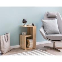 Wohnling Beistelltisch WL5.697 35x29,5x60 cm Holz Sonoma Design Anstelltisch Sofa, Couchtisch klein modern