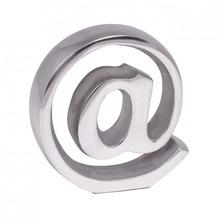 Wohnling Buchstütze @ Zeichen Design 15cm Aluminium-Dekoration Buchständer modern Katalogstütze silbern Buchhalterung