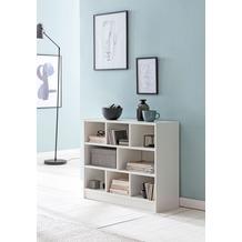 Wohnling Bücherregal WL5.819 Weiß 80x68,5x29,5 cm Regal Standregal Modern, Flurregal Schuhregal Schmal