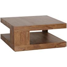 Wohnling Couchtisch MUMBAI 90x40 cm Massiv-Holz Sheesham, Design Beistelltisch im Landhaus-Stil