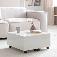 Wohnling Couchtisch WL5.917 Weiß 60x40x60 cm Holz Wohnzimmertisch Tisch Klein
