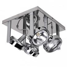 Wohnling Design Deckenlampe Spot Alu Chrom 4 flammig G9 52W EEK: C