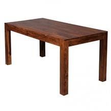 Wohnling Design Esstisch Massiv 160 x 80 x 76 cm Sheesham Massivholz