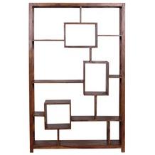 Wohnling Design Sheesham Massivholz Bücherregal 115 x 40 x 180 cm (B/T/H)