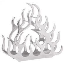 Wohnling Design Weinregal für 11 Flaschen Aluminium Silber