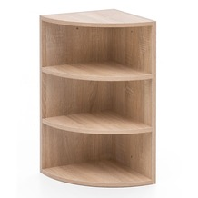 Wohnling Eckregal Sonoma 30x60x30 cm WL5.842 Holz Wandregal Eck Hängeregal, Holzregal für die Wand Hoch braun