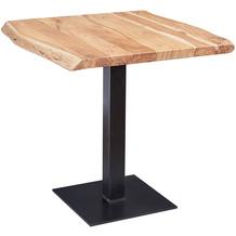 Wohnling Esstisch Baumkante 80 x 75 x 75 cm Akazie Massivholz Esszimmertisch, Kleiner Holztisch Esszimmer