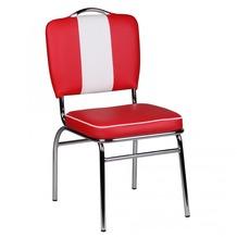 Wohnling Esszimmerstuhl American Diner 50er Jahre Retro Rot Weiß