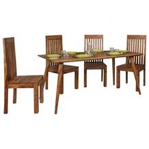 Wohnling Esszimmertisch REPA 160 x 80 x 76 cm Sheesham rustikal Massiv-Holz, Design Landhaus Esstisch, Tisch für Esszimmer groß, 6 - 8 Personen