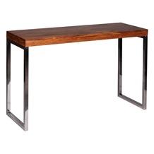 Wohnling Exklusiver Massivholz Konsolentisch 120 x 45 x 76 cm Tisch Sheesham Massiv