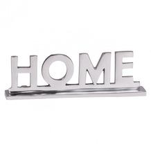 Wohnling Home Deko Schriftzug Design Wohnzimmer Ess-Tisch- Dekoration Wohnung Aluminium Wohndeko Silber 22 cm