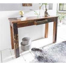 Wohnling Konsolentisch KALKUTTA 120 x 50 x 84cm cm Recycling Holz, Shabby, mit 1 Schublade
