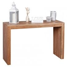 Wohnling Konsolentisch Massivholz Akazie Konsole Schreibtisch 115 x 40 cm Landhaus-Stil Arbeits-tisch Naturholz modern