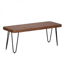 Wohnling Massivholz Akazie Sitzbank 120 x 40 x 45 cm Neu