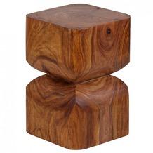 Wohnling Massivholz Sheesham Beistelltisch 30 x 30 cm Wohnzimmertisch